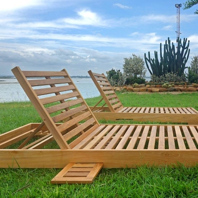 Teak Hollywood Chaise Lounger