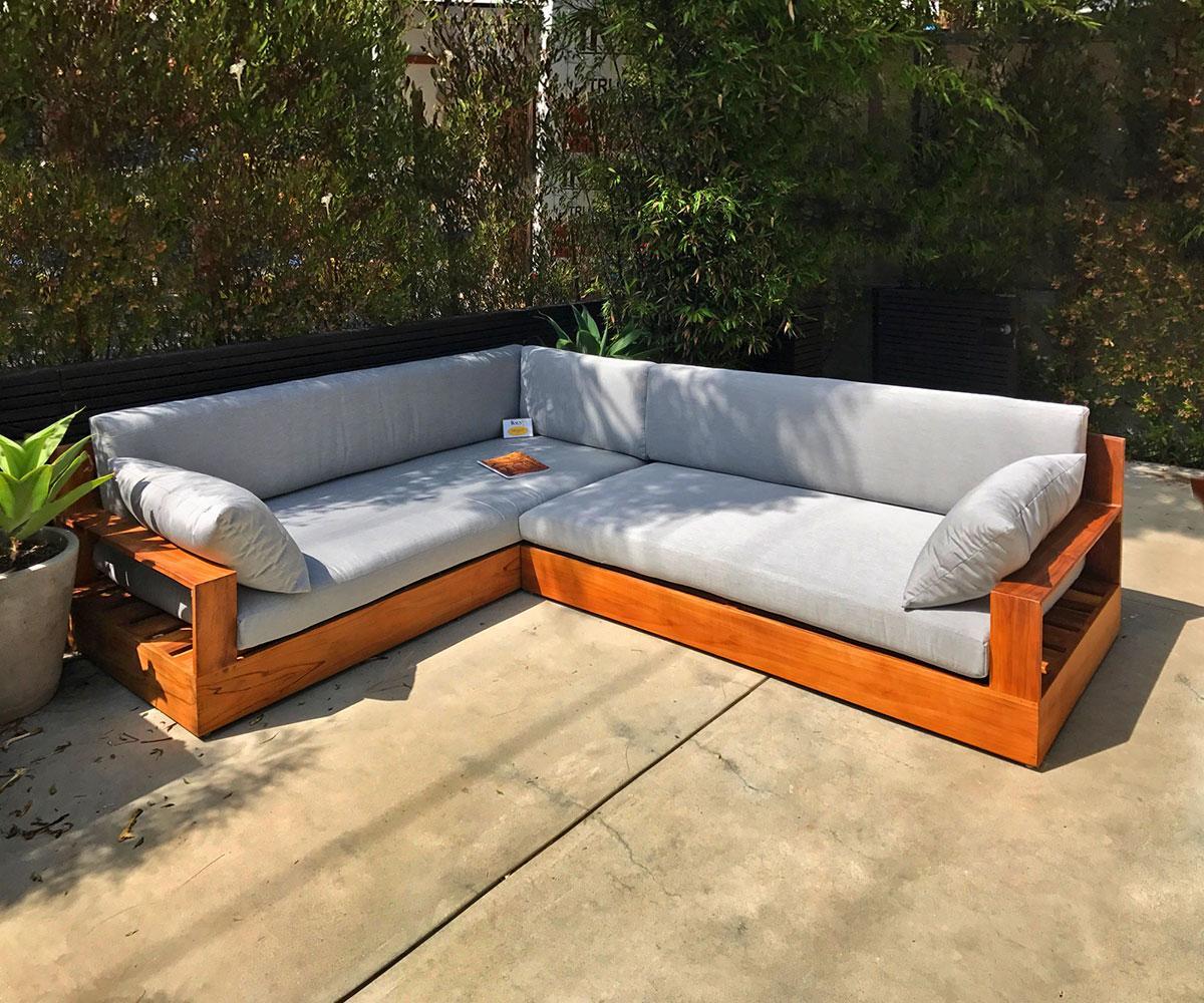 Erika Deep Seating Teak Sectional With Cushion Iksun