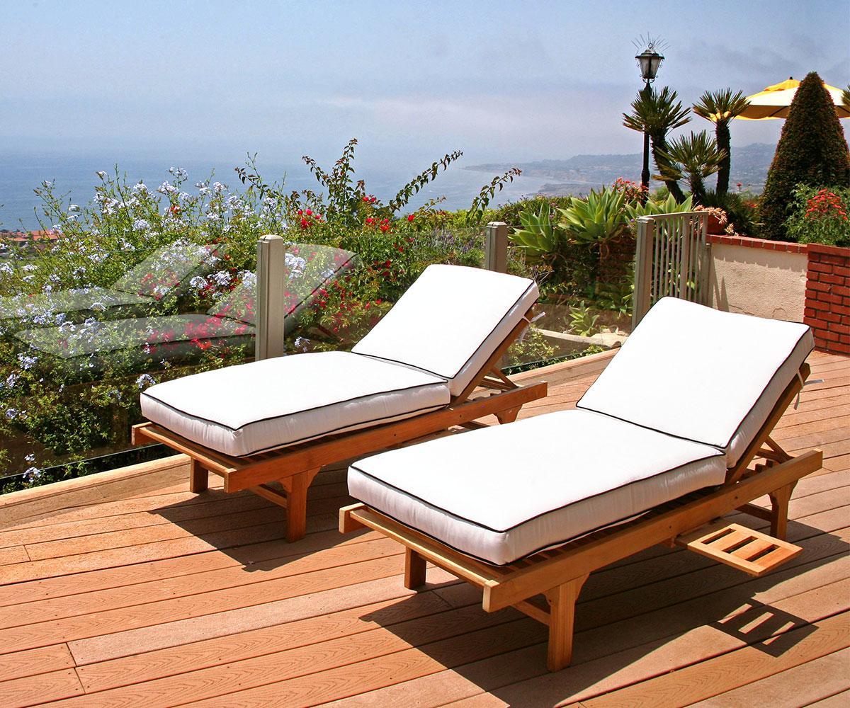 Jaya Chaise Lounge With Sunbrella Cushion Set Of 2 Iksun