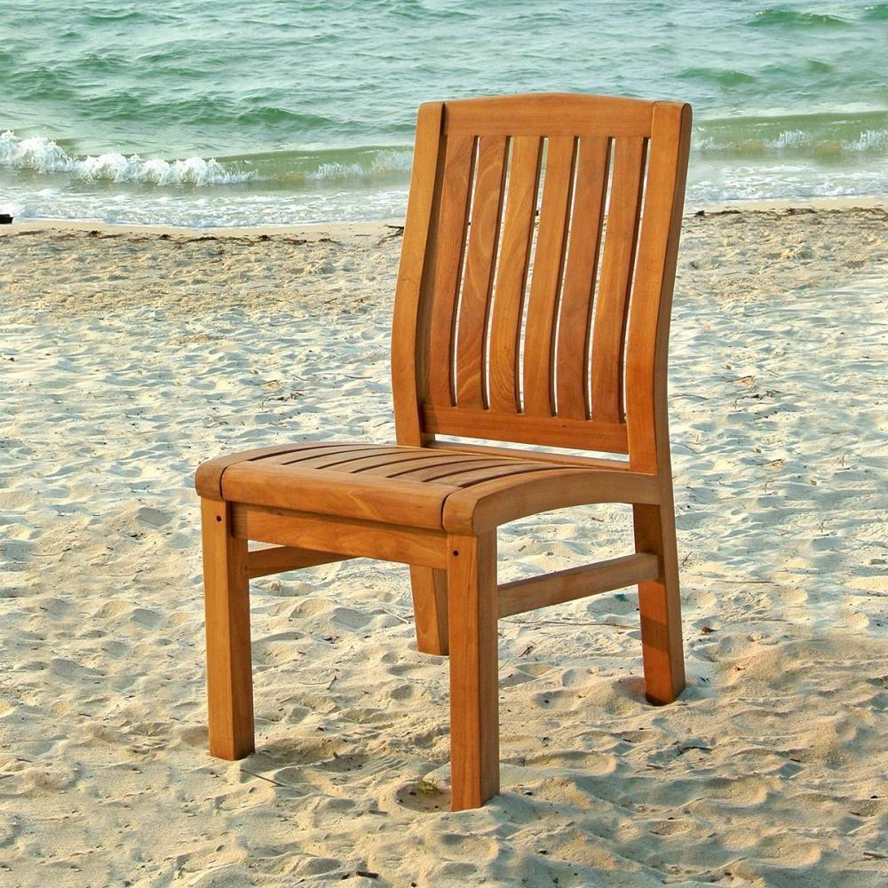 Lola Armless Teak Dining Chair