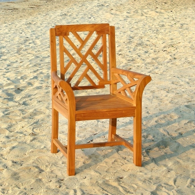Malibu Arm Teak Dining Chair