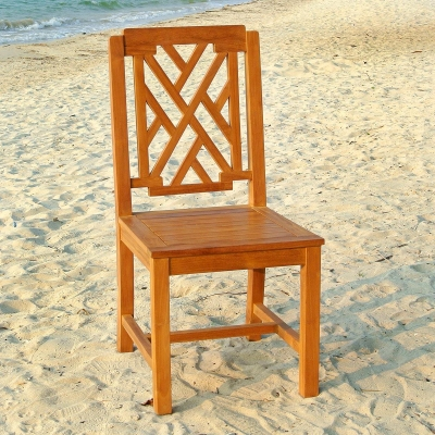 Malibu Armless Teak Dining Side Chair