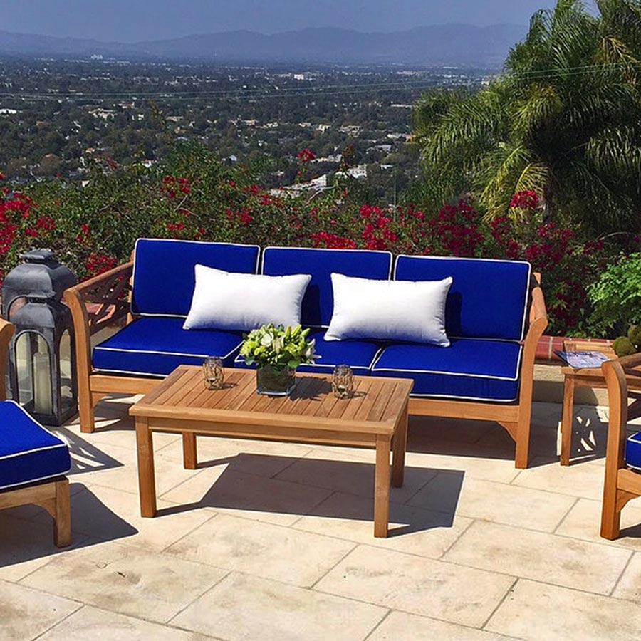 Malibu Person 5 Piece Deep Seating Group With Cushion