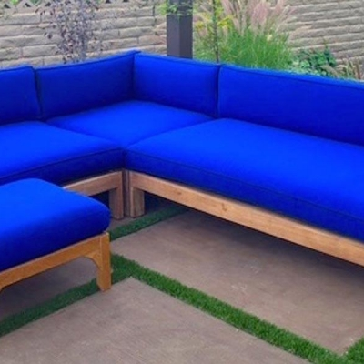 Manhattan 4 Piece Deep Seating Teak Sectional with Cushion