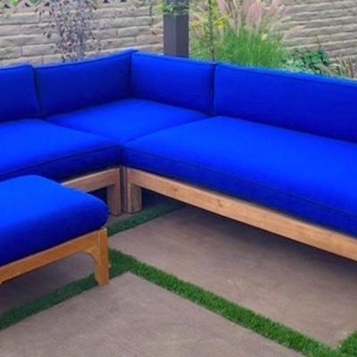 Manhattan 4 Piece Deep Seating Teak Sectional with Cushion