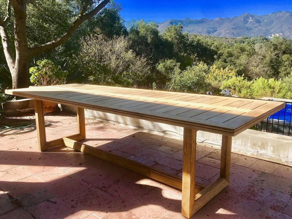 "Ventura Teak Outdoor 108"" Table"