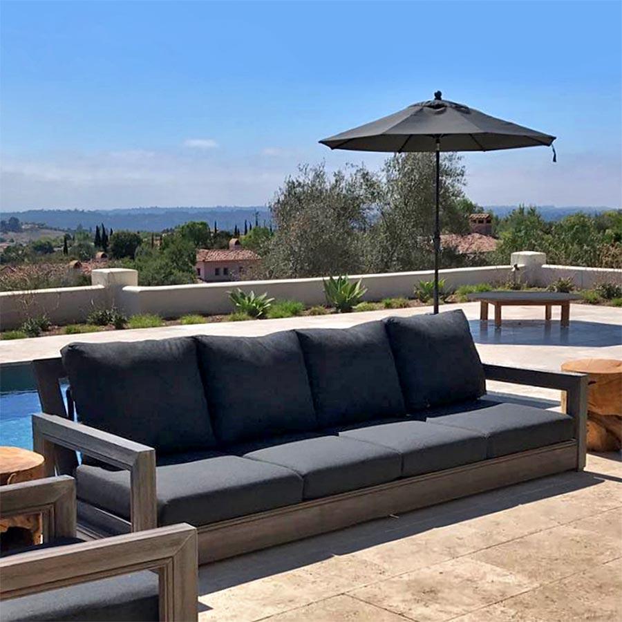 Ventura Teak Outdoor Sofa With Sunbrella Cushion Iksun